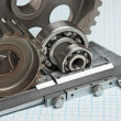 Caliper with gears and bearings - Stockfoto