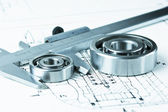 Calipers with bearing — Stockfoto