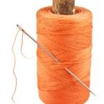 Spool of thread and needle — Stock Photo