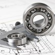 Stock Photo: Caliper with bearings