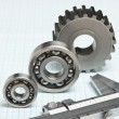 Stock Photo: Caliper with gears and bearings