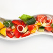 Salad of cucumber and tomato - Stock Photo