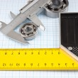 Callipers with bearing - Stockfoto