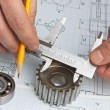 Stock Photo: Technical drawing