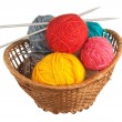 Ball of wool and knitting needle — Stock Photo
