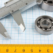Setsquare and calliper with bearing - Foto de Stock