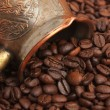 Bag of coffee beans — Stock Photo