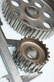 Gears and caliper — Foto Stock