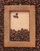 Kahve çekirdekleri çerçeve — Stok fotoğraf