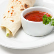 Pancakes stuffed with spices — Stock Photo