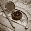 Compass and protractor — Stock Photo