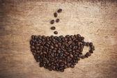 Obrázek kávová zrna — Stock fotografie