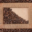 Frame of coffee beans — Stock Photo