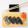 Traditional Asian food sushi - Photo