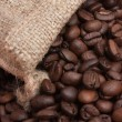Coffee beans in bag — Stock Photo