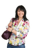 Woman with a bag — Stock Photo
