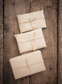 Pile parcel wrapped — Stockfoto