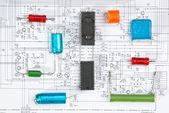 Silicon chip — Stock Photo