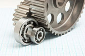 Gears and bearings — Stock Photo