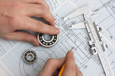 Technical drawing — Stockfoto