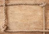 Quadro feito de corda — Fotografia Stock