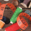 Still life of spools of thread — Stock Photo