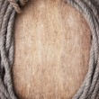 Picture frame of rope — Stockfoto
