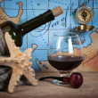Stock Photo: Bottle and glass of wine