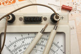 Old analog multimeter — Stock Photo