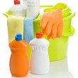 Composition of cleaning items — Stock Photo