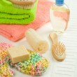 Composition of bath accesories — Stock Photo #5063054