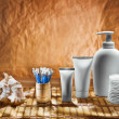 Stockfoto: Cosmetical set on mat