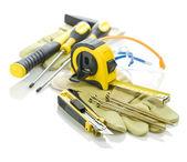 Boîte à outils sur les gants — Photo