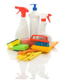 Composition of cleaning articles — Stock Photo