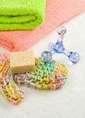 Havlu ve banyo makaleler — Stok fotoğraf