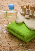 Collection of bath accessories — Stockfoto