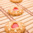 Cookie on a mat — Stock Photo