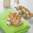 Collection of bath accessories - Stockfoto
