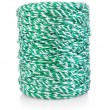 Green-white string - Stock Photo