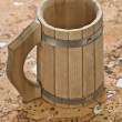 Mug on cork wood - Stock Photo