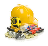 Big set of building tools — Stock Photo