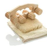 Houba s dřevěnými masér — Stock fotografie