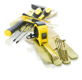 Big composition of tools — Stock Photo