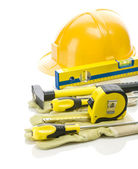 Big stack of building tools — Stock Photo