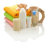 Big set of bathing accessories — Stock Photo