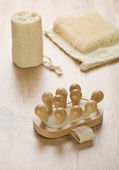 Bast bath sponge and massager — Stockfoto