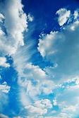 Cumulus clouds on a sky — Stock Photo