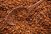 Kawa i drewnianą łyżką — Zdjęcie stockowe