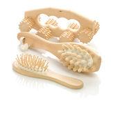 Escova de cabelo e massageadores — Foto Stock