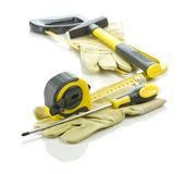 Guantes con pila de herramientas — Foto de Stock